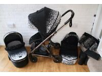 Mamas And Papas Urbo2 Black Ombre Pewter pram pushchair *can post*