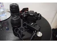 Canon 1000D with 2x Lenses 18-55mm & 75-300mm