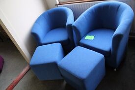 New tub chairs with footstools ONLY £150