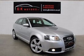 AUDI A3 S-LINE TDI T-TRONIC 5 DOOR ** NATIONWIDE WARRANTY ** 100% HPI CLEAR ** MOT ** HEALTH CHECK