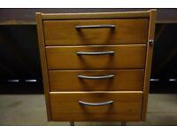 4 Drawer Home Office Desk Pedestal
