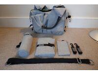 Lassig Neckline Changing Bag, Grey Melange