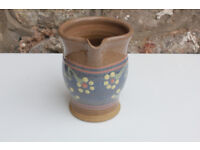 Handmade Studio Pottery Water Jug / Pitcher / Made by Aysgarth Pottery Flowers Art Ceramic