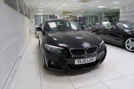 BMW 2 SERIES 2.0 220d M Sport Auto 2dr (start/stop) (black) 2015