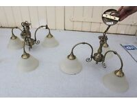 Triple Ceiling Lights x2 ideal for lounge Kitchen Hall way