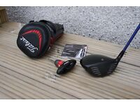 Titleist 913 D2 Driver, 10.5*, with a stiff Diamana 62 S Flex Shaft. Headcover and adjustment tool.