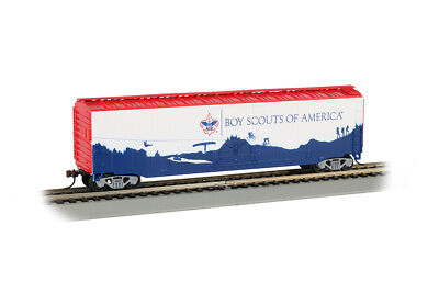 Bachmann Boy Scouts Of America 50' Plug Door Box Car HO Scale Trains 18013 Bachmann 50' Plug Door Box