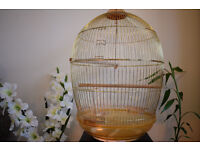 Beautiful Golden Bird Cage for Sale
