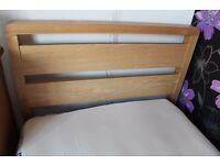 Real wood single bed for sale.