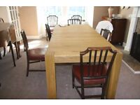 Immaculate large oak extending dining table (new October 2011) - Thornhill