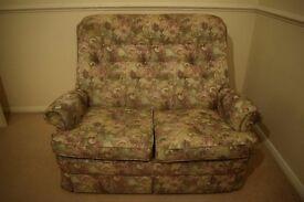 Sofa (2 Seater) + 2 Armchairs + Small Tea table