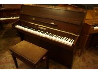 Modern small compact upright piano and stool - Tuned & UK delivery available