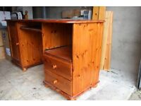 Large solid pine desk (152Lx62Wx80H) lots of storage,rollout keyboard support.Excellent condition.