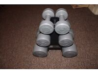Dumbbell set.