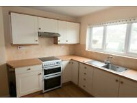Kitchen units, worktops, sink, oven, extractor fan in very good condition. will be ready end Feb