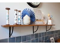Fired Earth Ex-Display Kitchen Clearance - Bastide Large Pan Shelf