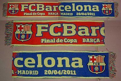 Bufanda/Scar Final Copa'11 REY FC BARCELONA - R MADRID