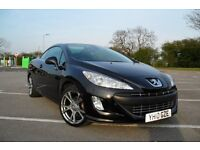 2010 (10) PEUGEOT 308CC GT 2.0 HDi DIESEL CONVERTIBLE, F/S/H, FULLY LOADED