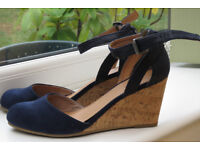 Navy Suede Effect Shoes Size 5