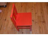IKEA ingo small/coffe table + IKEA KRITTER Children's chair