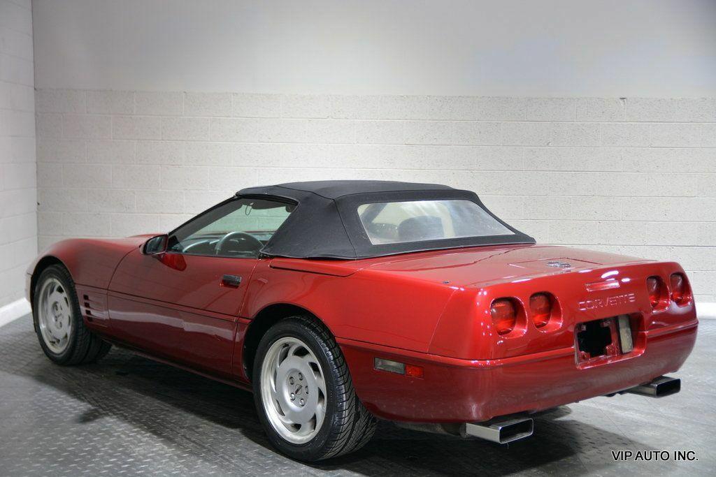 1992 Burgundy Chevrolet Corvette Convertible  | C4 Corvette Photo 3