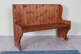 SOLID PINE MONKS BENCH RUSTIC WITH AGE RELATED MARKS HEAVY AND STURDY - CAN COURIER