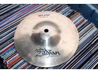 "Avedis Zildjian 8"" splash cymbal - Brilliant - USA -Solid black logo"