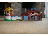 FISHER PRICE COTTAGE AND MUSICAL ROUNDABOUT