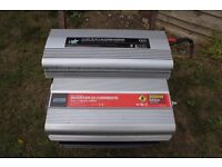 12v Power Inverters. Two For Sale. Perfect For Use With Cars/Caravans/Campervans/Limos/Coaches