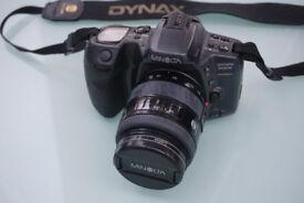 Minolta Dynax 500si Super 35mm film SLR + Minolta 28-70 and 70-210 lenses