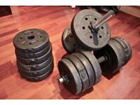 2x Dumbbell Dumbells Set (RRP £44.50) + FREE Weights (30KG) for Home Gym/Workout/Training Biceps