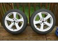 "Set of 17"" Winter Tyres and Wheels Suit BMW"