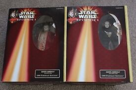 2 Large Star Wars Queen Amidala Dolls Boxed and a Leia Organa figure