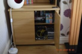 Matching bookcase cupboard, coffee table, nest of tables and TV stand
