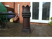 """Lovely Old Rare Glazed Chimney Pot 8"""" (225mm) Internal - Excellent Condition"""