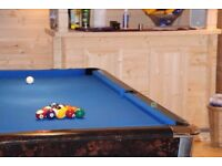 Pool table 7ft by 4ft Slate bed table Blue cloth