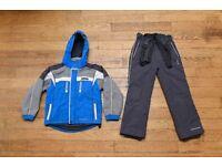 Trespass Boys Childs aged 7-8 Ski Jacket Coat and Salopettes Trousers Set Blue