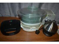 kitchen equpment: steamer Tefal + toaster + egg boiler