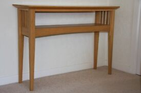 Light Oak Console Table