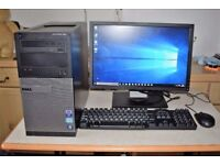 Dell Optiplex Full Desktop PC, i3 Quad Core CPU, 500GB+320GB HDD, 6GB Ram, ATI HD Graphics, Win 10