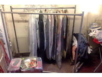 4 big metal clothes rails