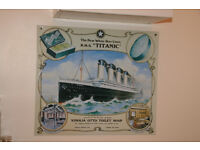 Titanic - White Star Liner - Metal Vinolia Soap Advert Sign