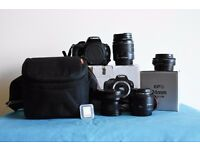 Canon 100D With 18-55mm, 24mm 2.8 STM, 50mm 1.8 Mark ii, Opteka Fisheye Adapter and Accessories