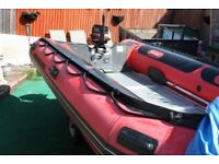 quicksilver hd 430 inflatable boat