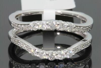 10K WHITE GOLD SOLITAIRE ENHANCER .52 CT DIAMOND RING GUARD