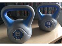 x2 6kg YORK Kettlebells for sale