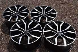 "18"" VW Golf Santiago Style Alloy Wheels Mk5 Mk6 MK7 Audi A3 2nd Gen Brand New Boxed Black Polished"