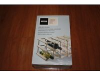 Wooden wine rack will hold up to 12 bottles - New/boxed.