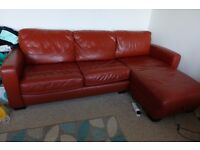 Good quality leather sofa bed