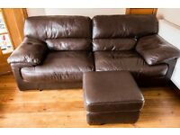 Leather suite in excellent condition